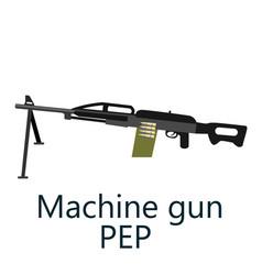 layered machine gun pep vector image