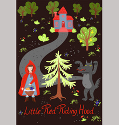 Little red riding hood poster graphics vector