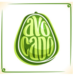 Logo for avocado vector