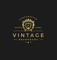 Luxury logo design template vector