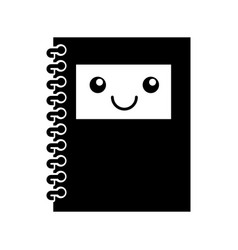 Notebook school kawaii character vector