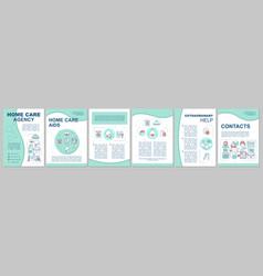 Nursing service brochure template layout vector