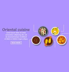 oriental cuisine banner horizontal concept vector image