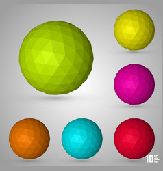 Polygonal sphere set color vector