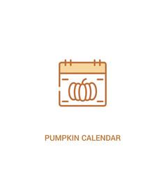 Pumpkin calendar concept 2 colored icon simple vector