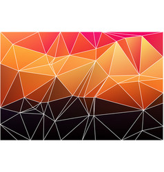 Purple orange yellow red brown geometric vector