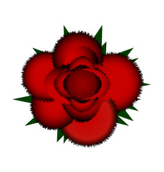 red rose icon vector image