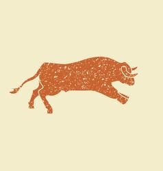 Running bull vector