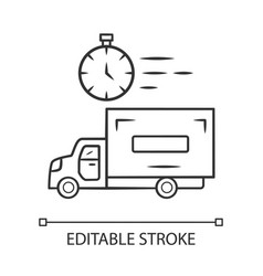 same day delivery linear icon fast shipping vector image