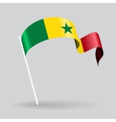Senegalese wavy flag vector image