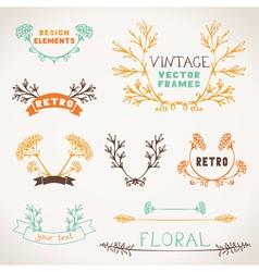 Set of nature design elements vector