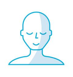 shadow blue bald man vector image
