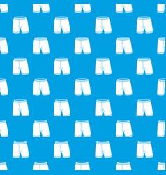 shorts pattern seamless blue vector image