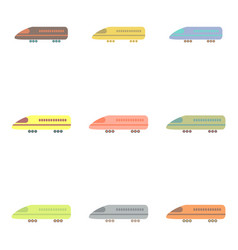 stylish icon in flat style travel airplane vector image