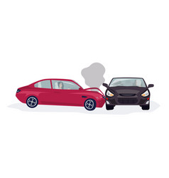 traffic or motor vehicle accident or car crash vector image