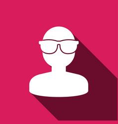 Virtual reality glass icon vector