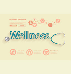 wellness health ideas concept design vector image