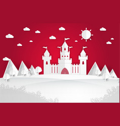 white paper castle vector image