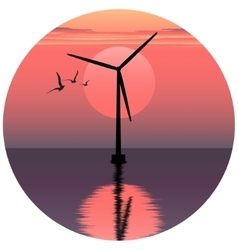 windmill electric windmill vector image
