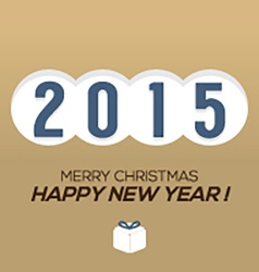 2015 Vintage New Year Card vector image