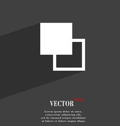 Active color toolbar icon symbol Flat modern web vector image