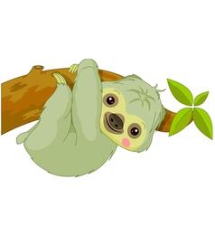 cartoon Sloth vector image vector image