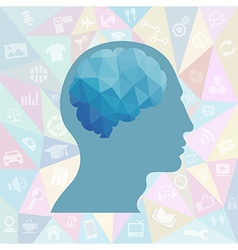Infographic mind vector image