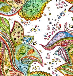 seamless texture with magic pattern watercolor vector image vector image