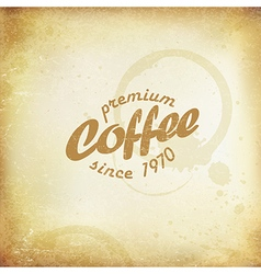 Vintage Coffee Poster Coffee stains and rings On vector image