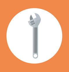 wrench icon working hand tool equipment concept vector image vector image