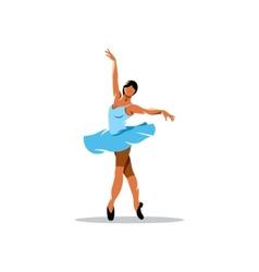 Ballerina sign vector image