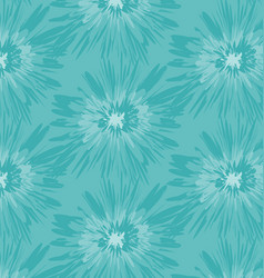 blue batik pattern vector image