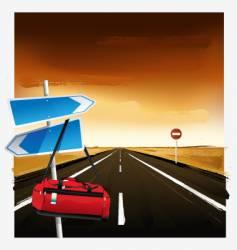 highway vector image vector image