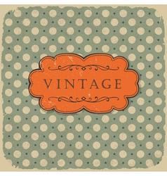 polka vintage background vector image vector image