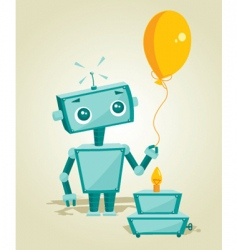 robot birthday vector image