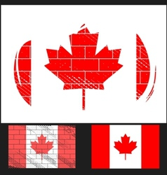 Scratched flag of Canada vector image vector image