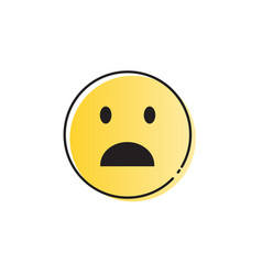 yellow cartoon face shocked people emotion icon vector image