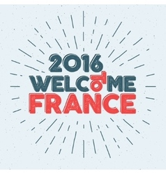 France europe 2016 Football label Soccer overlay vector image vector image