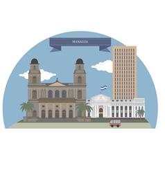 Managua vector image vector image