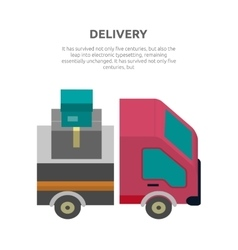 Delivery Lorry Driving Fast Design Flat vector image vector image