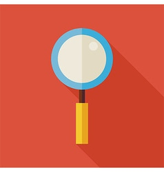 Flat Search Magnifying Glass with long Shadow vector image vector image