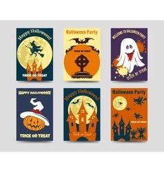 Halloween flyers template vector image