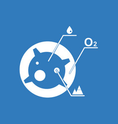 Icon satellite and elements vector