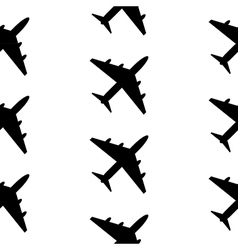 Plane symbol seamless pattern vector image
