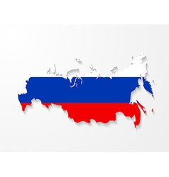 Russia map with shadow effect presentation vector image