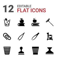 12 supplies icons vector