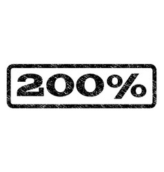200 percent watermark stamp vector image