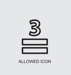Allowed icon vector