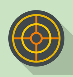 arch target icon flat style vector image