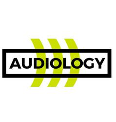 Audiology sticker stamp vector